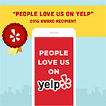 Yelp Review Award Recipient for 2016